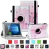 NAUC Asus ZenPad 3 8.0 Tablet Schutzhülle Tasche Tablettasche Hülle mit Standfunktion 360° drehbar hochwertige Kunst-Leder Verarbeitung Cover viele Motive Universal Tablethülle Hülle, Farben:Motiv 1