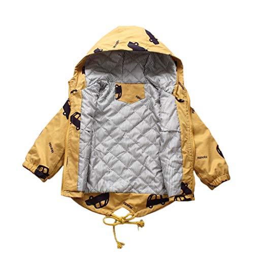 Allence Kinder Cartoon Jacken Windjacke Übergangsjack Kinderbekleidung Niedliches mit Kapuzen 1-8 Jahre Alt (Auto Muster)