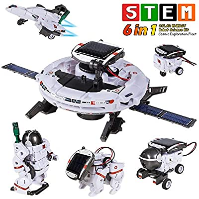 STEM Toys 6-in-1 Space Solar Robot Kit,Educatoinal Learning Science Building Toys DIY Educational Science Kits Gift for Kids Age 8 and Up,Science Experiment Set Gifts Toys for Boys Girls Teens