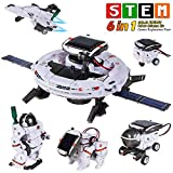 [2020 New Upgrade STEM Toys 6-in-1 Solar Robot Kit Learning Science Building Toys Educational Science Kits Powered by Solar Robot for Kids 8 9 10-12 Year Old Boys Girls Gifts