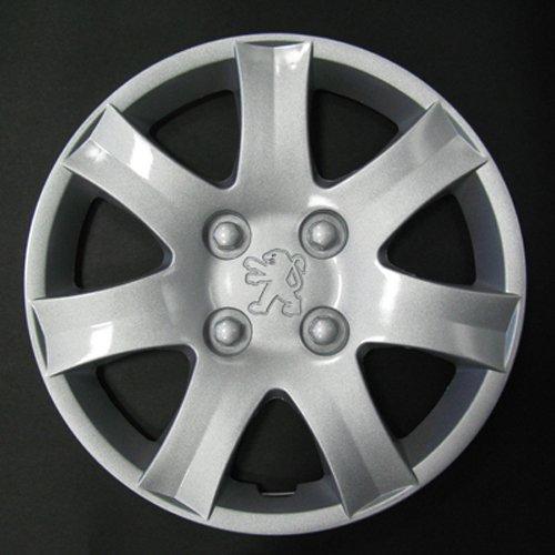 Jeu de 4 Enjoliveurs Neuf pour Peugeot 206/106 / 306/406 / 806 / Ranch/Bipper avec Roues Originales en 14 Pouces