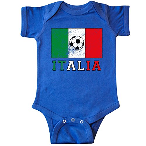 inktastic Italian Soccer Infant Creeper 6 Months Royal Blue
