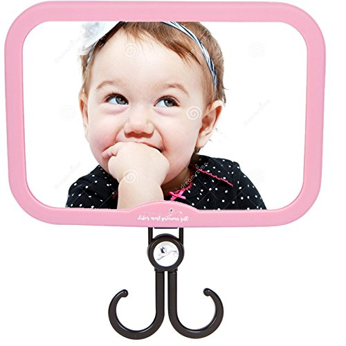 Baby Car Mirror for Girls - Pink Stork Style - with Accessories...