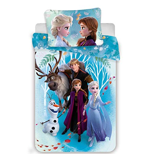 Bettwäsche für Babys, 100% Baumwolle, Elsa & Anna, Bettbezug 100 x 135 cm + Kissenbezug