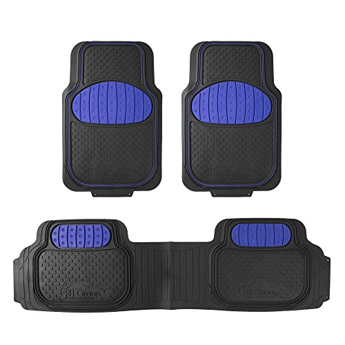 FH Group F11500BLUE Heavy Duty Touchdown Rubber Floor Mat (Red Full Set Trim to Fit)