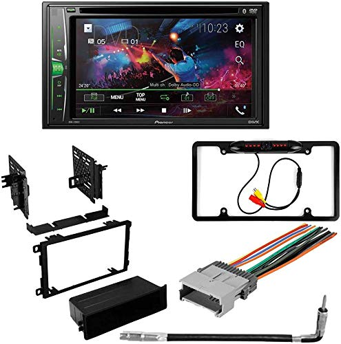 CACHÉ KIT4855 Bundle for 2003 – 2006 Chevrolet Silverado W/Car Stereo with Bluetooth/Backup Camera/Installation Kit/in-Dash DVD/CD AM/FM 6.2' WVGA Touchscreen Digital Media Receiver (5Item)