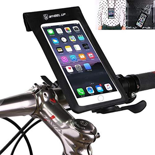Sac de guidon de vélo, XPhonew étanche ultra mince Coque de téléphone/ téléphone écran tactile Sac étanche support vélo pour téléphone portable pour iPhone XS MAX XR 8 7 Plus Smartphone jusqu' à 6''