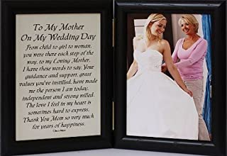 PersonalizedbyJoyceBoyce.com 5x7 Hinged to My Mother ON My Wedding Day Poem ~ Photo & Poetry Frame for The Mother of The Bride! (Black)
