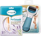 Amope Pedi Perfect Kit with Amope Pedi Perfect Electronic Foot File (1 File) + Amope Pedimask, Lavender Oil Essence, (1 pair)