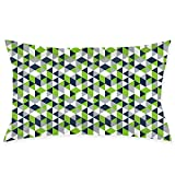 ZJBLHEQ Pillowcase Geometric Seahawk Luxury Pillow Covers for Hair and Skin Anti-Wrinkle Breathable Cool Ultra Soft with Hidden Zipper 20 x 30 inches