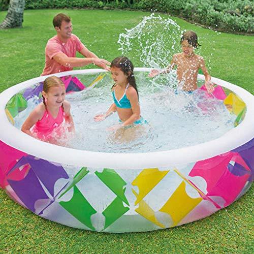JJSC-Piscinas Hinchables Piscina para Bebés Casa Inflable Piscina Grande Baño De Engrosamiento Piscina Infantil para Niños -Beach Juguete De La Piscina Multi-colored-229X56cm