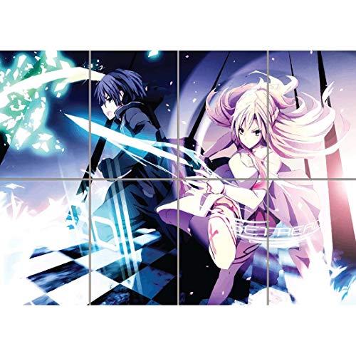 Doppelganger33 LTD Sword Online Wand Kunst Multi Panel Poster drucken 47x33 Zoll