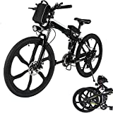 Aceshin 26'' Folding Electric Mountain Bike with Removable Large Capacity Lithium-Ion Battery (36V 250W), Electric Bicycle 21 Speed Gear and Three Working Modes