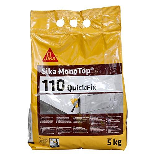 Sika Monotop 110 QuickFix, Mortier à prise rapide pour scellements et bouchages, 5kg, Gris