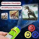 YEAR OLD Linterna de juguete y luz del proyector deslizante, regalo divertido y educativo para niños
