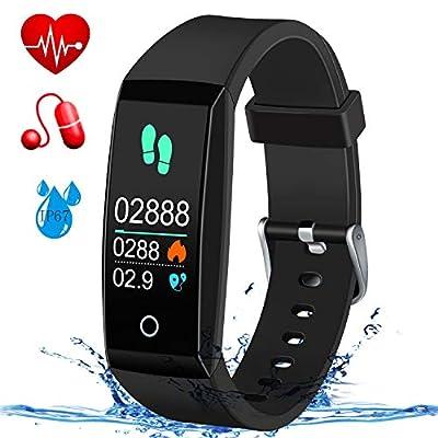 MSDJK Fitness Tracker,Blood Pressure & Heart Rate Fitness Wristband IP67 Waterproof Smart Watch,Sleep Activity Tracker Wearable Smart Bracklet with Pedometer Calorie Counter for Women Men Kids by MSDJK