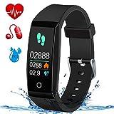 MSDJK Fitness Tracker,Blood Pressure & Heart Rate Fitness Wristband IP67 Waterproof Smart Watch,Sleep