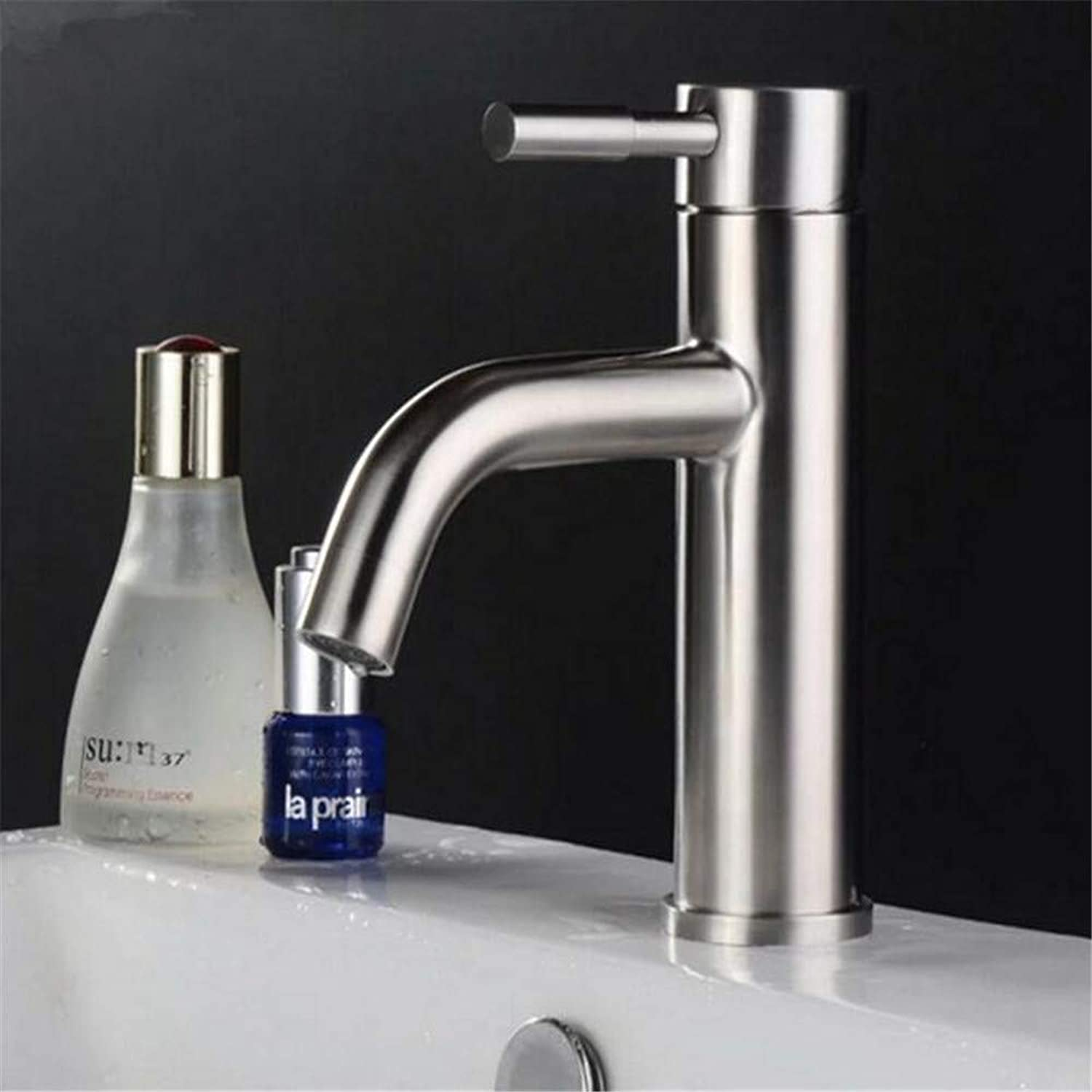 Basin Mixer Tap 304 Stainless Steel Faucet Hot and Cold Sitting Single Hole Basin Table Top Basin Basin Basin Faucet