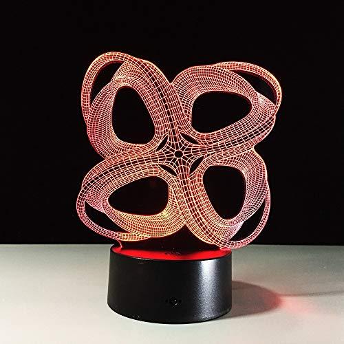 Grafica del tratto 3D Lampada a illusione creativa Luce notturna a LED Acrilico colorato Gradiente atmosfera lampada illuminazione