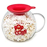 Epoca Inc. EKPCM-0025 Ecolution Micro-Pop Popper, Glass Microwave Popcorn Maker with Dual Function Lid, 3 Qt