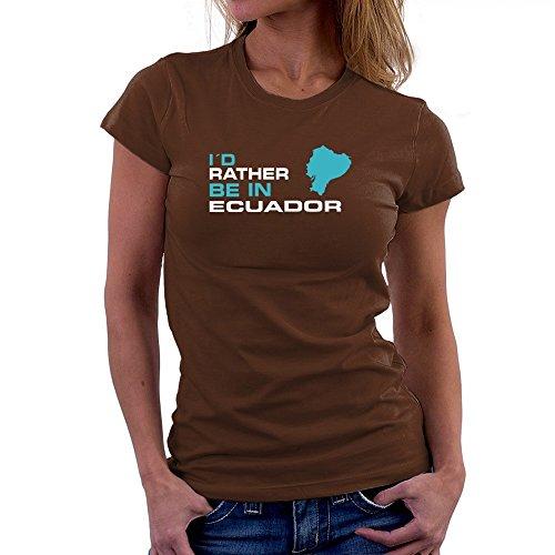 Teeburon I'D Rather BE IN Ecuador Camiseta Mujer