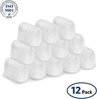 12-Pack Breville BWF100 Charcoal Replacement Compatible Water Filters with Ion Exchange Resin-Excellent Filtration