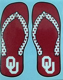 Craftique Oklahoma Sooners Flip Flop Decal