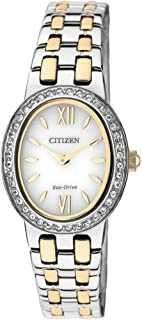 Citizen Women's Analog Eco-Drive Watch with Stainless Steel Strap EX1396-52A