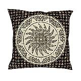 CCMugshop - Funda de cojín para sofá o Regalo, diseño de Tatuaje Celta Vikingo, Color Blanco y Negro, Blanco, 45 x 45 cm