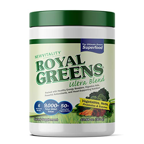 Royal Greens Ultra Superfood | Healthy Veggie Powder with Probiotics, Enzymes, Antioxidants, Wheat Grass & Greens 10.75oz (30 Day Supply)