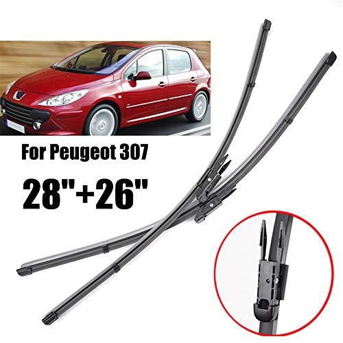 onbekend voorruit ruitenwisserbladen, voor Peugeot 307 voorruit ruitenwisser 2004 2005 2006 2007,voor 307CC 307SW