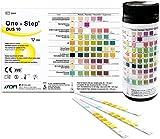 One+Step Esame di controllo con 10 parametri: 100 strisce reattive per urinalisi