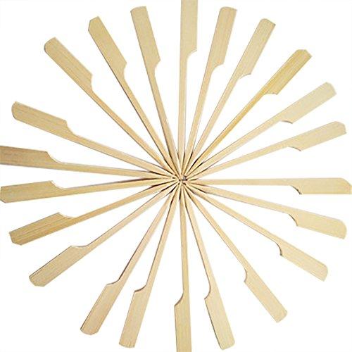 Demarkt Bambus Spieße Bambusstick Holzspieße Naturholzspieße für Obst BBQ Fondue