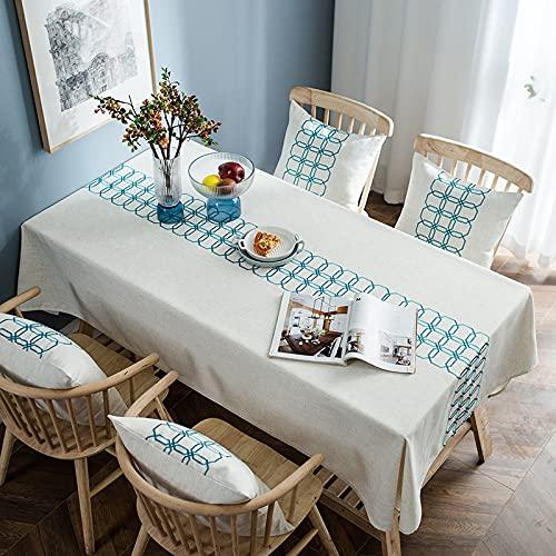 sans_marque Paño de mesa, anti-derrame y anti-pliegue cubierta de tabla suave, utilizado para la decoración de mesa de cocina 130* 220cm