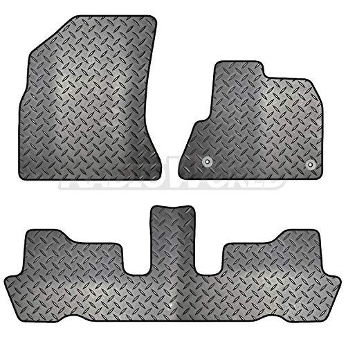 Carsio ZCUT-2508-(36 x 2) - Juego de Alfombrillas de Goma para Coche (2 Clips, 36 x 2), Color Negro