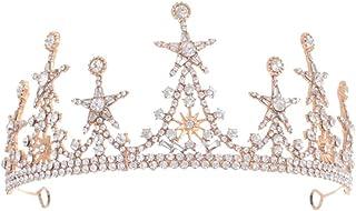 FRCOLOR Rhinestone Hair Crown Crystal Princess Tiara Sparkling Royal Crown Wedding Headdress for Wedding Ceremony