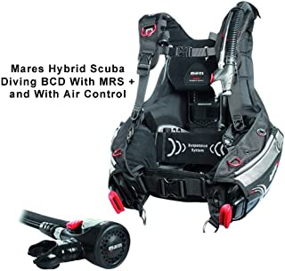 Mares Hybrid Scuba Diving BCD With MRS+ and Air Control (X-Small/Small, Black)
