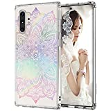MOSNOVO Henna Floral Designed for Samsung Galaxy Note 10 Plus Case/Galaxy Note 10 Plus 5G Case (2019) - Gradient Rainbow
