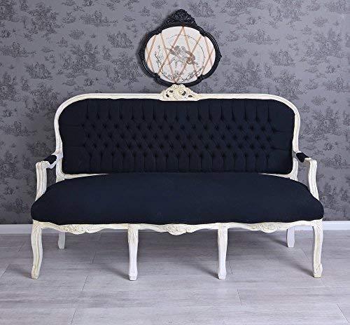 Salonsofa Barocksofa Couch Sitzbank Barock Schwarz Weiss Sofa Polstersofa Palazzo Exklusiv