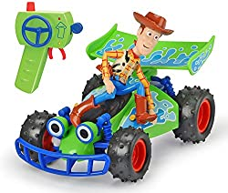 RC WOODY BUGGY - has a 2 channel radio and full directional movement ready to speed through the streets to find Forky TURBO SPEED - blaze past Gabby Gabby and her army of puppets with the turbo speed function, which increases the speed of this top qu...