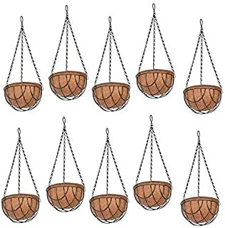 COIR GARDEN Water Hanging Basket with Stand (10 Inch) 10 Pieces