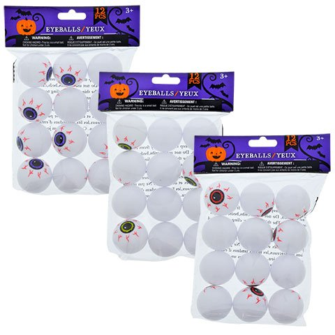 12 Plastic EyeBalls (3 Packs)