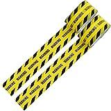 警戒色 パッキングテープ バリケード テープ (WARNING) 幅4.7cmX長さ25m 2巻セット フィルムテープ ライン用テープ 梱包 表示 安全