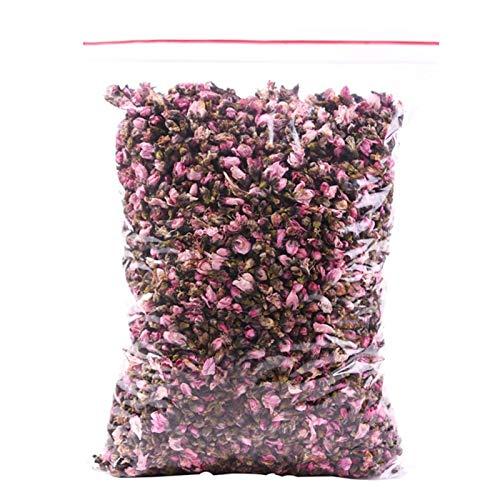 100g Natürliche Pfirsichknospen Organische Duftende Getrocknete Pfirsich Blumen Bud Peach Blossom Buds (Color : 100g raw color)