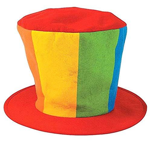 Dondor Enterprises 'Oversized Clown Top Hat' Felt Party Clown Hat (1 Top Hat)