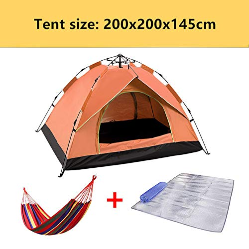 Camping Automatic Tent Family Outdoor Travel Tent 4 Seasons Waterproof 1-4 People Travel Tent Sunscreen Beach