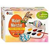 """Colori per uova di Pasqua + cavalletto + pennello 'Mal mit mir"""" (anche per mancini)"""