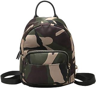 b06f7d844635e SoonerQuicker Rucksack Tasche Camouflage Unisex Leder Rucksack Laptop Retro  Reise Schule Rucksack Tasche