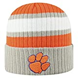 Top of the World NCAA Sub-Zero Cuffed Knit Beanie Hat-Clemson Tigers