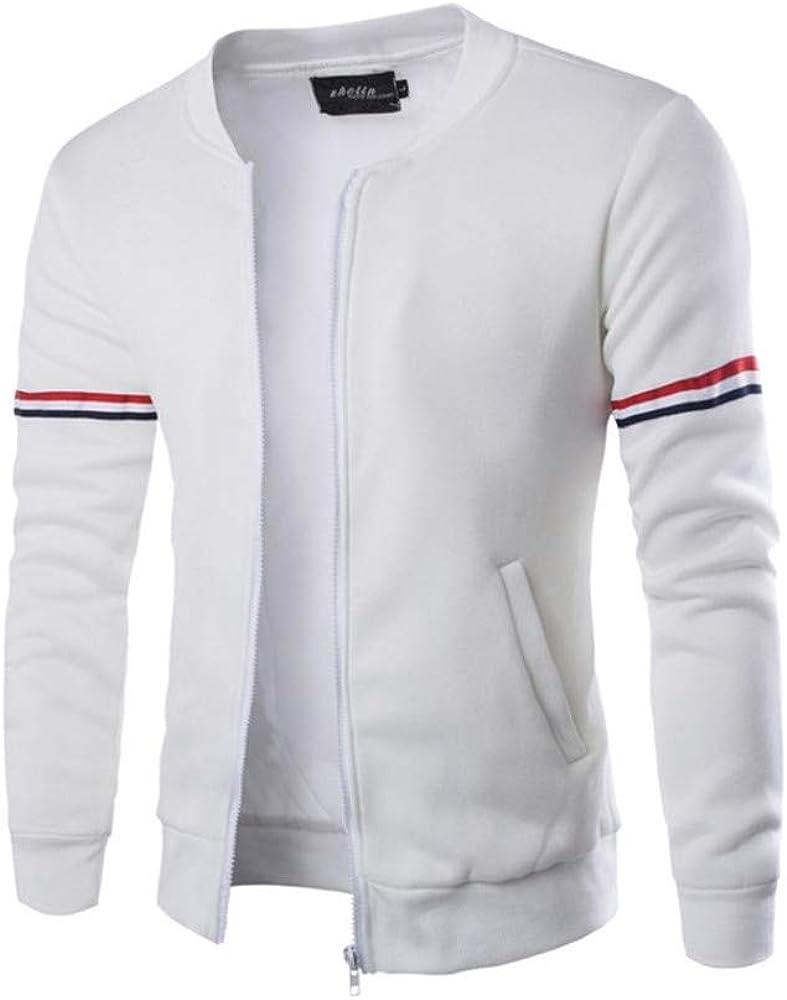 Mens Hoodies Zip Up Lightweight Slim Casual Long Sleeve Decorative Ribbon Pullover Sweatshirts Outwear Jacket Coats